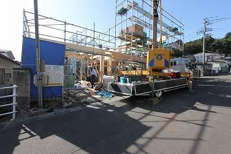 建て方が始まりました。