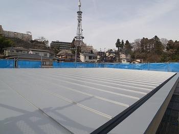 屋根工事が始まりました。